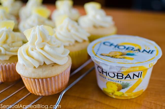 Pineapple Cupcakes with Greek Yogurt // www.sensualappealblog.co