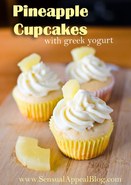 Pineapple Cupcakes from www.sensualappealblog.com