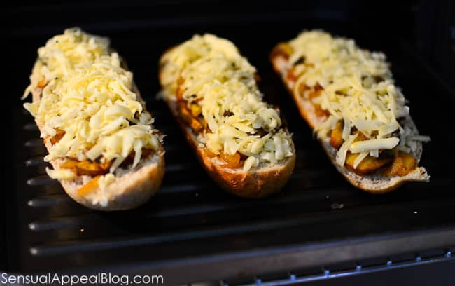 Zapiekanka or Toasted Baguette with Mushrooms and Cheese (Polish Street Food) www.sensualappealblog.com
