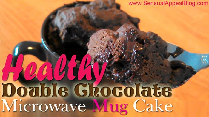 Healthy Double Chocolate Microwave Mug Cake!! Wow! My life has been changed! Amazing! Learn more at sensualappealblog.com