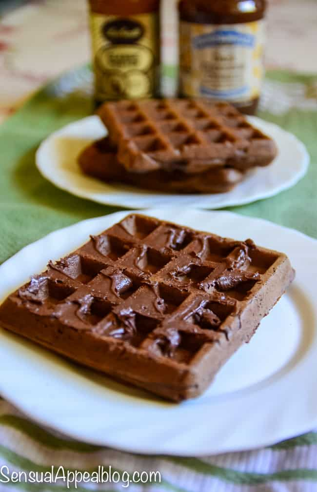 Chocolate Porter Waffles - an amazing brunch! These waffles are so deeply chocoatey and semi-sweet from the rich flavor of the porter beer. This is a MUST!