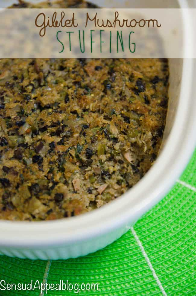 Giblet Mushroom Stuffing for a Healthy Thanksgiving