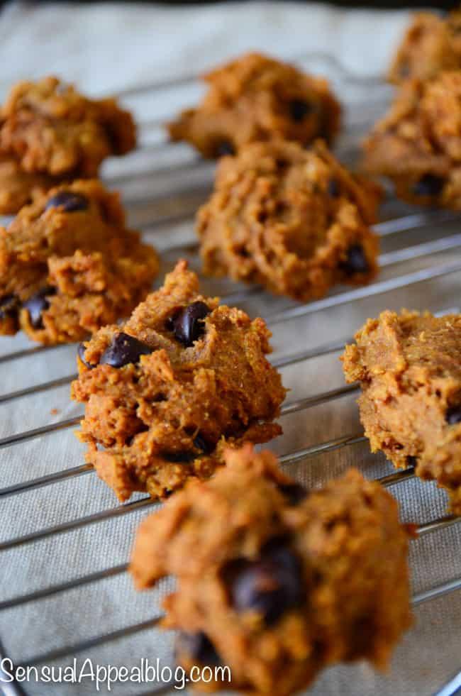 Pumpkin Chocolate Chip Cookies Recipe (healthier)