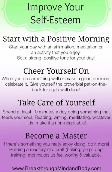 how to shift your mindset to improve your self-esteem
